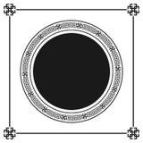 Het Griekse geïsoleerde patroon van het stijl sier decoratieve kader Grieks ornament Vector antiek kaderpak Patronen i van het de Stock Fotografie