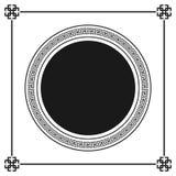 Het Griekse geïsoleerde patroon van het stijl sier decoratieve kader Grieks ornament Vector antiek kaderpak Patronen i van het de Stock Foto's