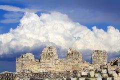 Het Griekse Kasteel van Eurialo Royalty-vrije Stock Foto's