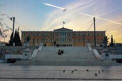 Het Griekse parlement royalty-vrije stock afbeelding