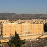 Het Griekse Parlement op Syntagmavierkant royalty-vrije stock afbeelding