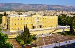 Het Griekse Parlement op Syntagmavierkant Royalty-vrije Stock Afbeeldingen