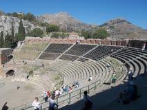 Het Griekse theater. Panorama. Royalty-vrije Stock Fotografie
