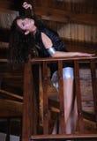 Het Griekse vrouw stellen Royalty-vrije Stock Fotografie