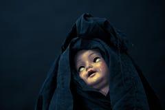 Het griezelige Gezicht van Doll Royalty-vrije Stock Fotografie