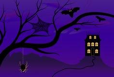 Het griezelige Huis van Halloween Stock Afbeelding