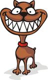 Het grijnzen hond Stock Afbeelding