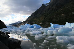 Het Grijs van de gletsjer in Torres del Paine Stock Afbeeldingen
