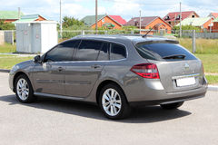 Het grijs van Renault Laguna 2010 Stock Afbeelding