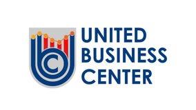 Het grijze embleem vectoreps van UBC Stock Foto's