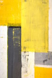 Het grijze en Gele Abstracte Schilderen van de Kunst Royalty-vrije Stock Foto