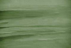 Het grijze groene abstracte schilderen op een canvas Stock Afbeeldingen