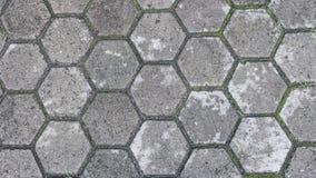Het Grijze hexagon patroon van de tegelvloer stock afbeeldingen