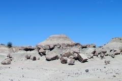 Het grijze landschap van de steenwoestijn Stock Afbeeldingen