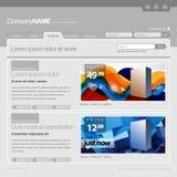 Het grijze Malplaatje van de Website Stock Foto