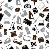 Het grijze patroon van huiselektrische apparaten  Royalty-vrije Stock Afbeelding