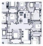 Het grijze Plan van het Huis Royalty-vrije Stock Foto