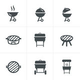 Het grillpictogram Barbecuesymbool Royalty-vrije Stock Fotografie
