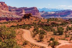 Het Grintlandweg van Utah Stock Foto's