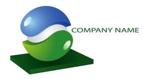 Het groenachtig blauwe embleem van de illustratie Royalty-vrije Stock Foto's