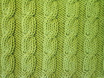 Het groene breien royalty-vrije stock fotografie