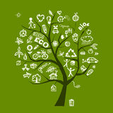 Het groene concept van de ecologieboom Stock Fotografie