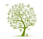 Het groene concept van de ecologieboom voor uw ontwerp