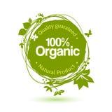 Het groene concept van de handtekening voor biologisch product Royalty-vrije Stock Foto