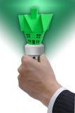 Het groene concept van de huisenergie Royalty-vrije Stock Afbeeldingen