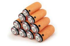 Het groene concept van energiebatterijen Stock Afbeeldingen