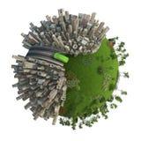 Het groene concept van het energievervoer vector illustratie