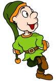Het groene Elf Glimlachen Stock Foto's