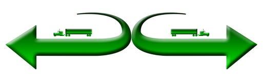 Het groene embleem van 18 speculantvrachtwagens Stock Foto