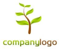 Het groene embleem van de aard - Royalty-vrije Stock Afbeeldingen