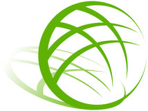 Het Groene Embleem van de aarde stock illustratie