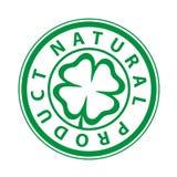 De Druk van het teken van het natuurlijke product Stock Foto