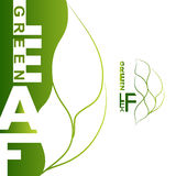 Het groene Embleem van het Blad Royalty-vrije Stock Afbeeldingen