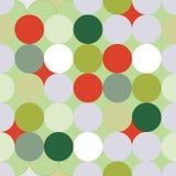 Het groene en rode naadloze patroon van Kerstmiscirkels royalty-vrije illustratie