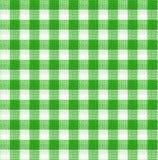 Het groene en witte behang van de tafelkleedtextuur Stock Afbeelding