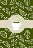 Het groene etiket van het theepakket stock illustratie