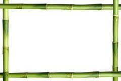 Het groene frame van de bamboestok Stock Afbeelding