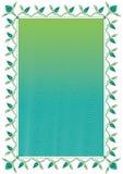 Het Groene Frame van de Bloem van de lijn stock illustratie