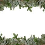 Het groene frame van het spartakje met Kerstmisballen stock afbeeldingen