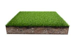 Het groene geïsoleerde stuk van het grasland vector illustratie