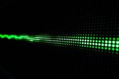 Het groene Glanzen Dots Background, Netwerkconcept Stock Foto