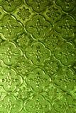 Het groene Glas van het Patroon royalty-vrije stock foto's
