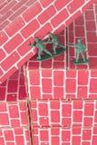 Het groene Groepswerk van Legermensen Stock Afbeelding