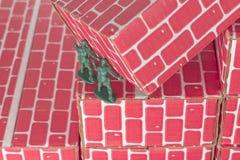 Het groene Groepswerk van Legermensen Stock Foto's