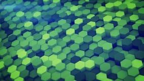 Het groene hexagon 3D patroon geeft terug royalty-vrije illustratie