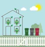 Het groene huis van Eco Royalty-vrije Stock Afbeeldingen